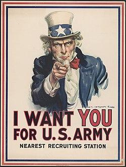 Cartaz Tio Sam Primeira Guerra